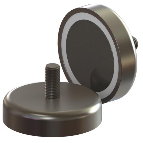 Magnet neodim tip oala diam. 12 mm, cu filet exterior