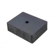 Magnet SrFe bloc 100mm x 100mm x 25mm, cu orificiu
