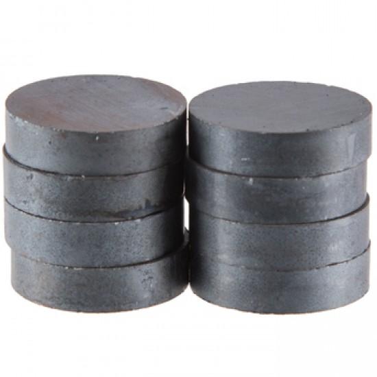 Magnet SrFe disc 25mm x 5mm