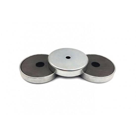 Magnet SrFe tip oala, diam: 40mm, cu orificiu