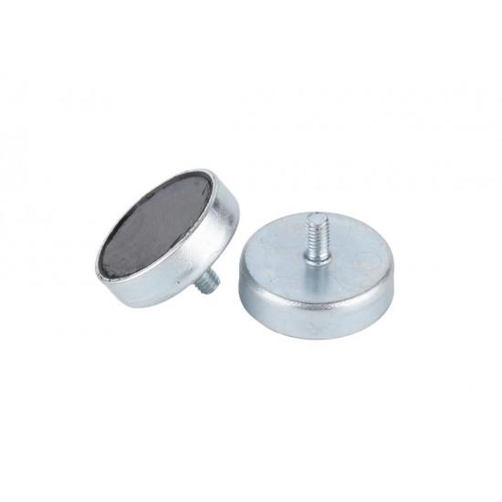 Magnet SrFe tip oala, diam: 63mm, cu filet exterior