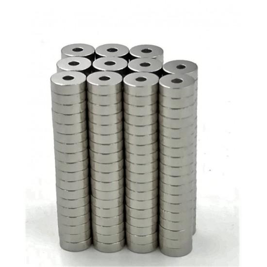 Magnet neodim inel 10mm x 2mm x 5mm, N35