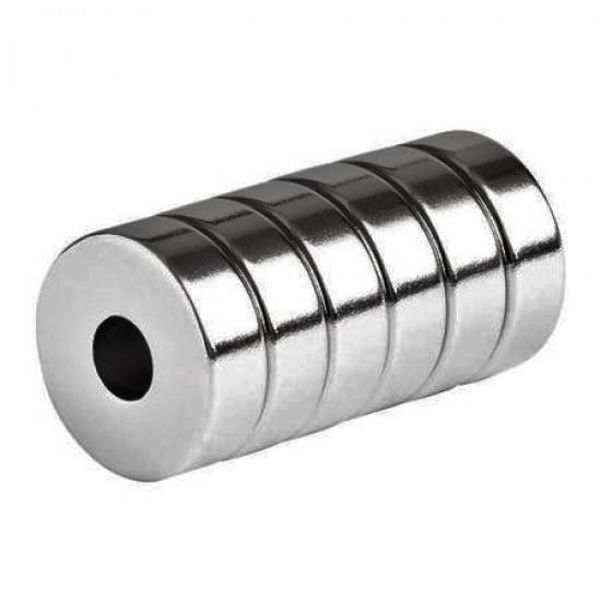 Magnet neodim inel 10mm x 3mm x 5mm, N35