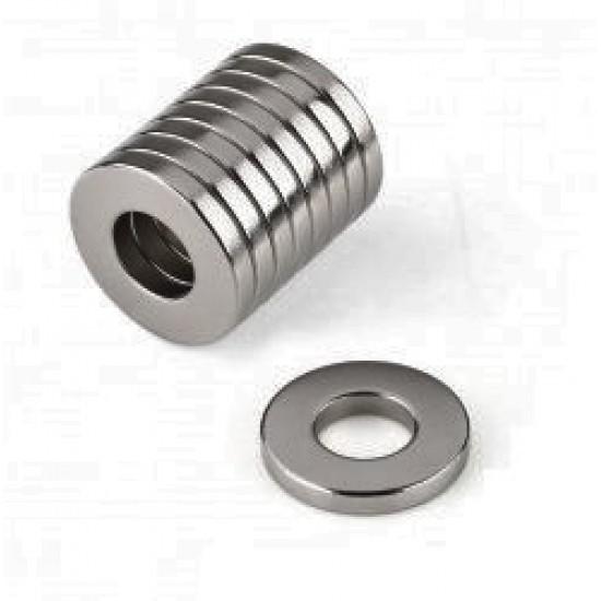 Magnet neodim inel 10mm x 6mm x 1mm, N35