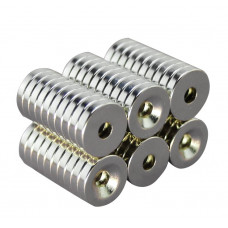 Magnet neodim inel 14mm x 4mm x 3mm, N35, cu şanfren