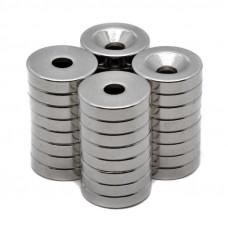 Magnet neodim inel 18mm x 5,5mm x 5mm, N45, cu sanfren