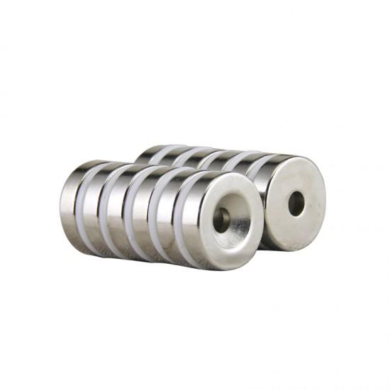 Magnet neodim inel 24mm x 5,5mm x 5mm, N48, cu sanfren