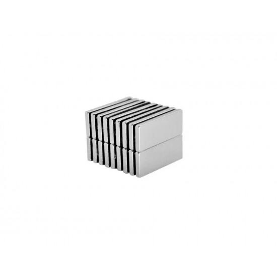 Magnet neodim bloc 25mm x 10mm x 2mm, N52