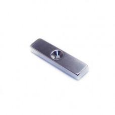 Magnet neodim bloc 40mm x 10mm x 5mm, N48, cu orificiu