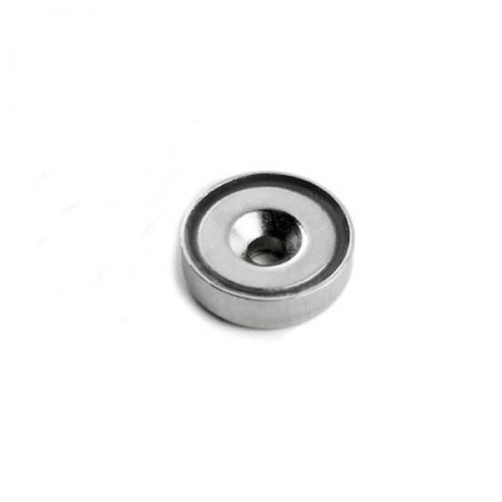 Magnet neodim tip oala diam. 12 mm, cu orificiu