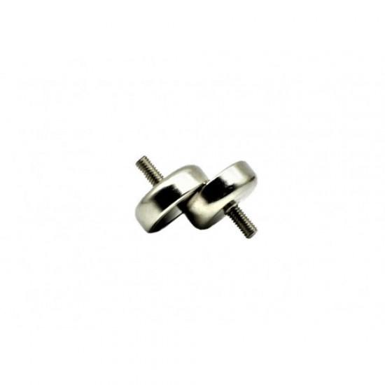 Magnet neodim tip oala diam. 16 mm, cu filet exterior