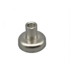 Magnet neodim tip oala diam. 16 mm, cu filet interior