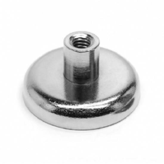 Magnet neodim tip oala diam. 20 mm, cu filet interior