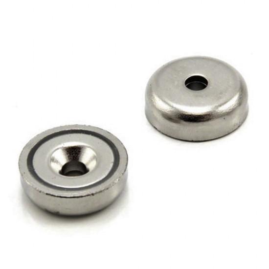 Magnet neodim tip oala diam. 20 mm, cu orificiu