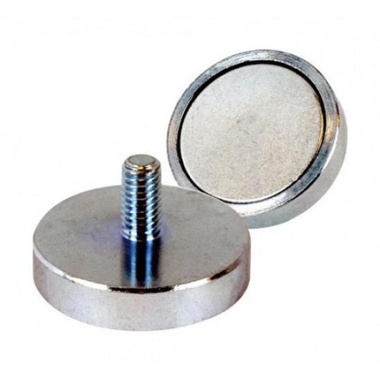 Magnet neodim tip oala diam. 32 mm, cu filet exterior