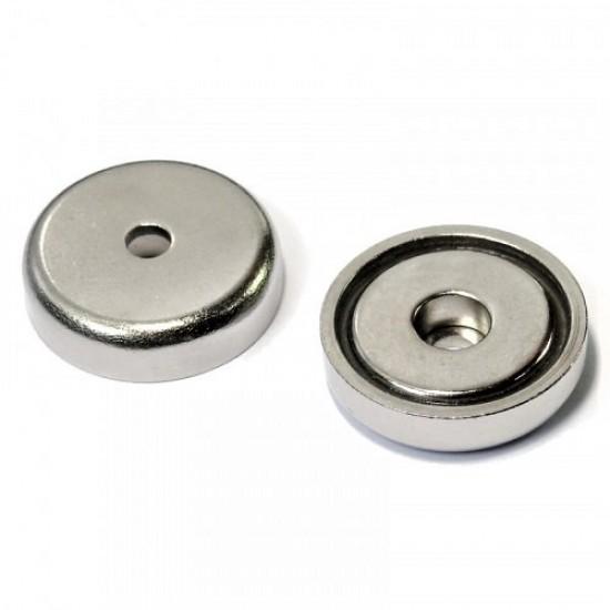 Magnet neodim tip oala diam. 32 mm, cu orificiu