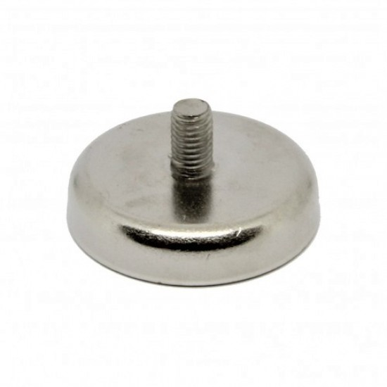 Magnet neodim tip oala diam. 48 mm, cu filet exterior