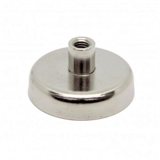 Magnet neodim tip oala diam. 25 mm, cu filet interior