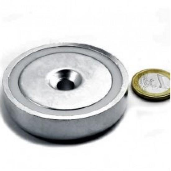 Magnet neodim tip oala diam. 60 mm, cu orificiu
