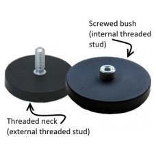 Magnet neodim tip oala cauciucat diam. 22mm, cu filet exterior