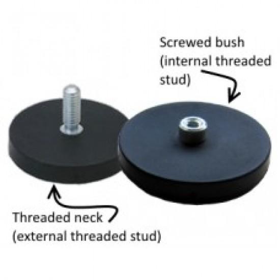 Magnet neodim tip oala cauciucat diam. 66 mm, cu filet interior