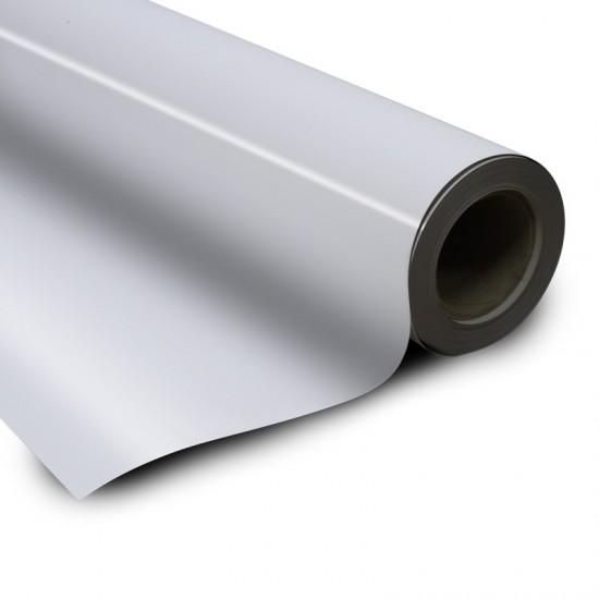 Folie magnetica gros 0,5mm, latime 1270mm, cu PVC alb,  1 metru liniar