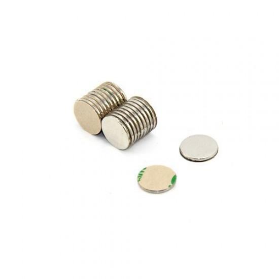 Magnet neodim disc 10mm x 1mm, N35, cu adeziv