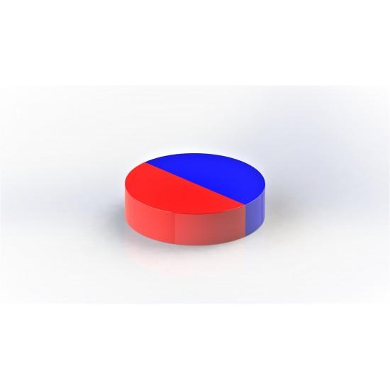 Magnet neodim disc 10mm x 5mm, N48, radial