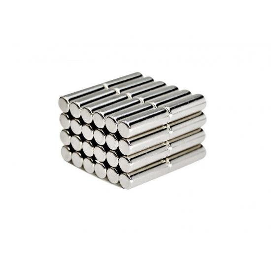 Magnet neodim cilindru 6mm x 25mm, N35 - lichidare stoc